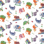 Animal Magic - Animal Play Multi Color Yardage