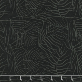 Black Beauty Batiks - Fern Black and Gray Yardage