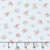 Morning in the Garden - Small Floral Blue Yardage