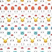 Pokemon - Pikachu White Yardage