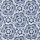 Blue Carolina - Carolina Lace Navy Yardage