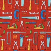 Tools of the Trade - Workbench Red Yardage