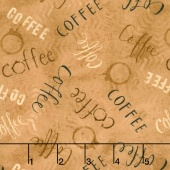 But First, Coffee! - Words Allover Coffee Yardage