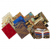 Treasures of Alexandria Multi Metallic Fat Quarter Bundle