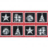 Winter's Grandeur 6 - Winter Ornaments Winter Metallic Panel