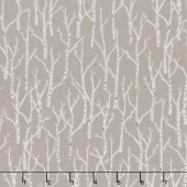Woodland Pitter Patter - Trees Medium Taupe Yardage