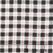 We Whisk You A Merry Christmas - Buffalo Plaid Black Ultra White Yardage