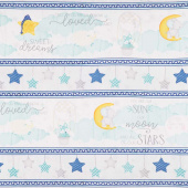 All Our Stars - Repeating Stripe Multi Yardage