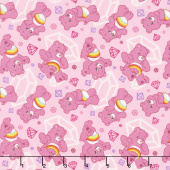 Care Bears - Sparkle & Shine Sparkles in Pink Yardage