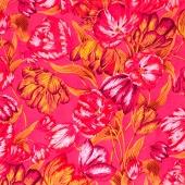Kaffe Collective Spring 2017 - Sunshine Tulip Extravaganza Pink Yardage