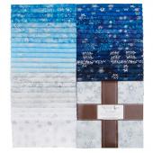 Artisan Batiks - Snowflakes 2 Metallic Ten Squares