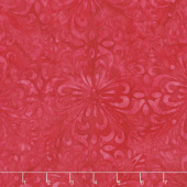Cherry Sweet Batiks - Fancy Tiles Red Yardage
