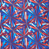 "Smashing Atoms 108"" - Patriotic Digitally Printed 108"" Wide Backing"