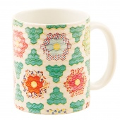 Hexagons Vintage Quilt Mug