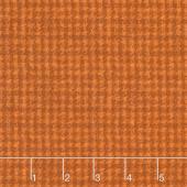 Woolies Flannel - Houndstooth Orange Yardage
