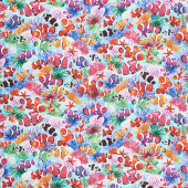 Aquarium - Swimming Clown Fish Multi Yardage