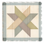 Barn Quilts Coaster - Weave Star