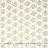 Bespoke Blooms - Tonal Rose Rows Pebble Yardage