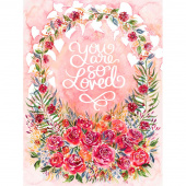 Brightly Blooming - Rosie Love Packaged Multi Digitally Printed Panel