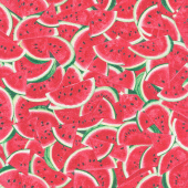 One in a Melon - Packed Watermelon Slices Pink Yardage