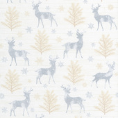 Snow is Falling - Rustic Reindeer Cream Yardage