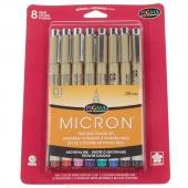 Pigma Micron Pen .25mm 8 Color Set