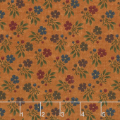 Nature's Glory - Fall Bouquet Orange Yardage