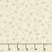 Home Sewn - Daisy Stitches Cream Yardage