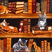 Cats - Cats in Library Yardage