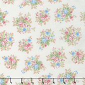 Morning in the Garden - Medium Floral Cream Yardage