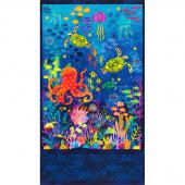 Octopus Garden - Sealife Ocean Digitally Printed Panel