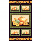 Autumn Elegance - Pumpkin Black Metallic Panel