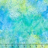 Sweet Hearts Batiks - Dots Lemongrass Yardage