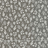 Summer Sweet - Flora Charcoal Yardage