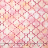 Peony Passion - Lattice Pink Yardage