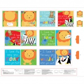 """Huggable & Lovable Books - """"I'm Wild About You"""" Multi Book Panel"""