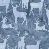 Icicle Batiks - Deer Grouping Shark Yardage