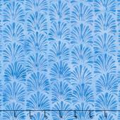 Buttercup Batiks - Vertical Plumes Bluebird Yardage