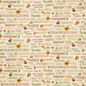 Autumn Time - Words Butter Yardage