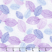 Viva Terra - Leaves Lilac Yardage