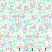 30's Playtime - Friendly Blooms Eggshell Yardage