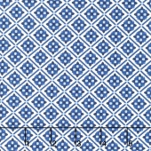 Blue Carolina - Carolina Tile White Yardage
