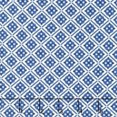 Blue Carolina - Carolina Tile White Yardage