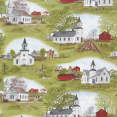Country - Amazing Grace Church Scenic Green Yardage