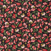 Prose - Medium Floral Black Yardage