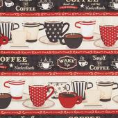 Coffee Time - Repeating Stripe Multi Yardage