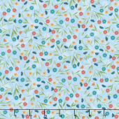 Colorful Cats - Field of Flowers Sky Yardage