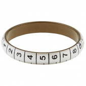 Missouri Star Measuring Tape Bracelet - Thin White