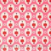 Vintage Kitchen - Cat Pink Yardage