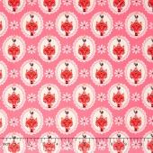 Vintage Kitchen - Cat Pink Yardage